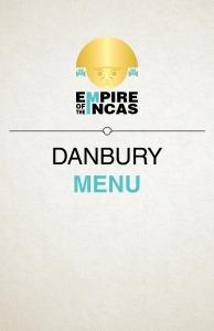 Empire Of The Incas Danbury Menu